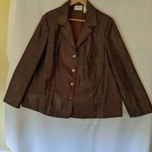 Alfred Dunner faux leather Blazer